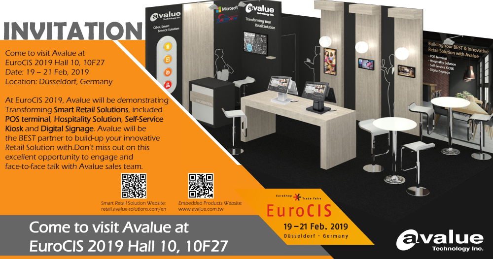 Come to EuroCIS 2019, building your innovative Retail Solution with