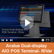 Avalue Dual-display AIO POS Terminal - RiVar<br>