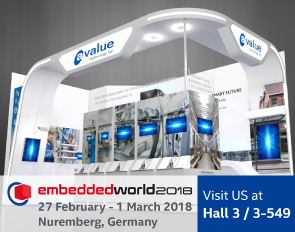 Avalue presents the latest cutting-edge IoT solutions for manufacturing, healthcare and signage at Embedded World 2018