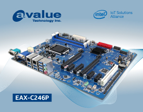 Avalue introduces EAX-C246P, an ATX 8th Gen Intel® Xeon® E3 (Workstation)/ Intel® Core™/Pentium®/ Celeron ® Processor SoC Embedded Industrial motherboard